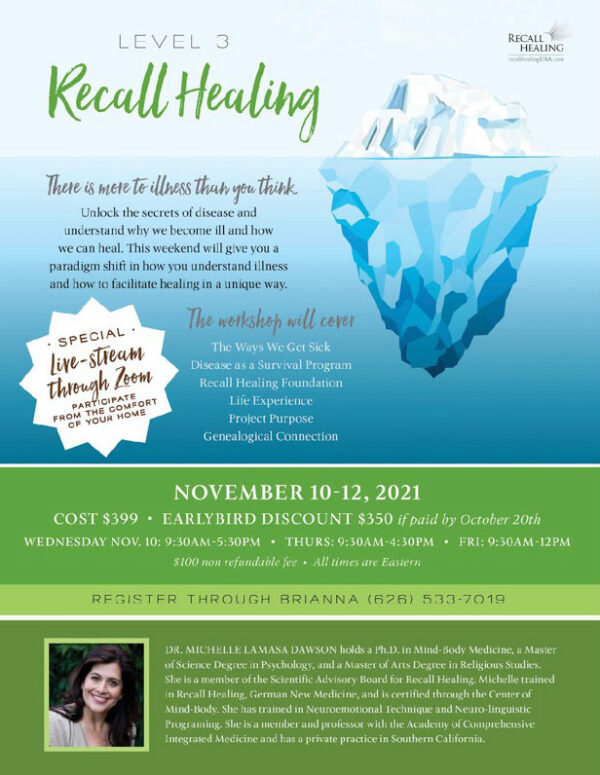 Recall Healing Level 3 workshop